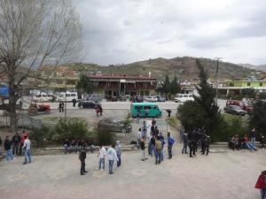 School yard at the school
