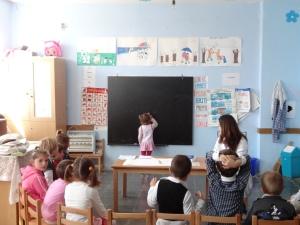 Shadowing the kindergarten class in Pajove