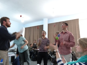 Learning how to juggle at Hub