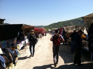 Market in Bisqem on every Wednesday. You can find everything from pots&pans to used clothing to sheep.