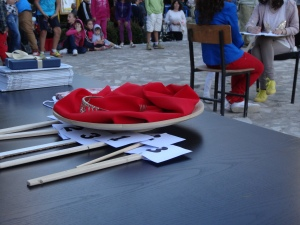 Judging the talent competition in Permet