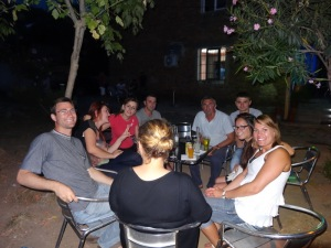 Coffee with the Americans attracts a lot of people in Milot!