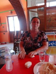 The byreketore lady teaching us how to make byrek. My grandma would have been proud!