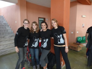 Some of the girl volunteers