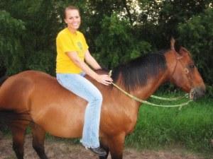 Riding at Andrea's farm