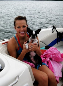 Millie and me out on the boat!