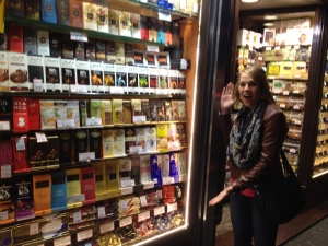A wall full of chocolate!