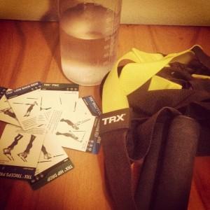 A little TRX training after my run!