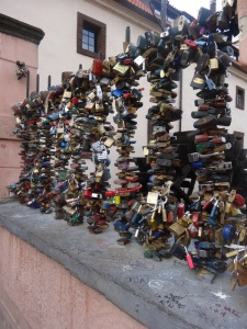 Write your names on a lock and throw away the key for everlasting love...