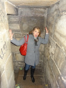 Going up the Clock Tower of the Charles Bridge
