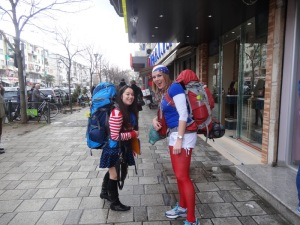 We figured out a way to attract even more stares in Albania. Didn't think that was possible!