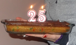 Birthday cake made from all American ingredients. Yum!