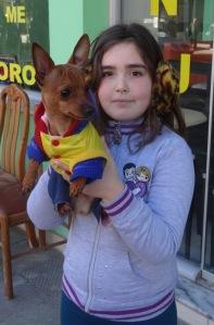 A cute little girl in Fier, where Emily lives.