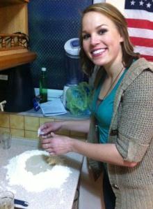 Making pizza dough!