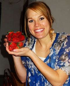 I don't care what you say, I will be as excited as I want when I find Strawberries!