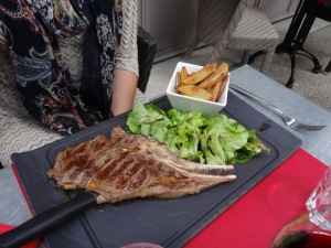Bull steak for lunch!