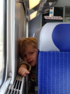 I made a boyfriend on the train. Such a cutie!