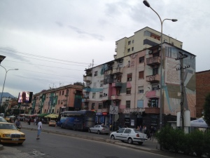 On my morning run in Tirana. It smelled a little too much like garbage.