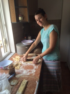 My sitemate making fig newtons.