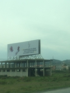 Every single billboard and sign had been changed to advertise the Pope's visit.