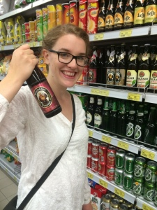 Emilie and HER beer.