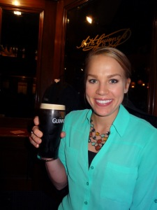 First pint of Guinness!