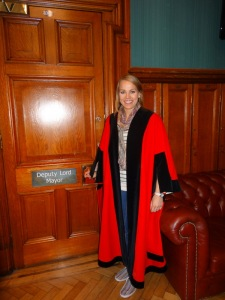 A chancellor robe, which costs around 4,000 pounds!