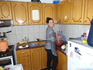 Monika making some delicious apple pies