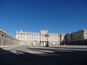 The palace in Madrid