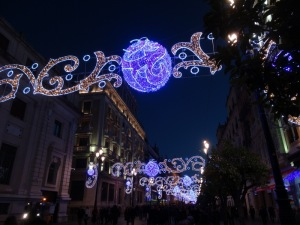 Gratefully welcoming the beautiful lights of Seville