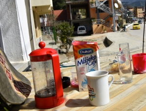 Only in Albania can you bring your own coffee to a cafe.