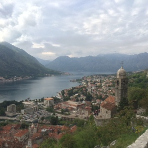 Overlooking the bay of Kotor.